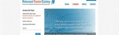 Holocaust Theatre Catalog
