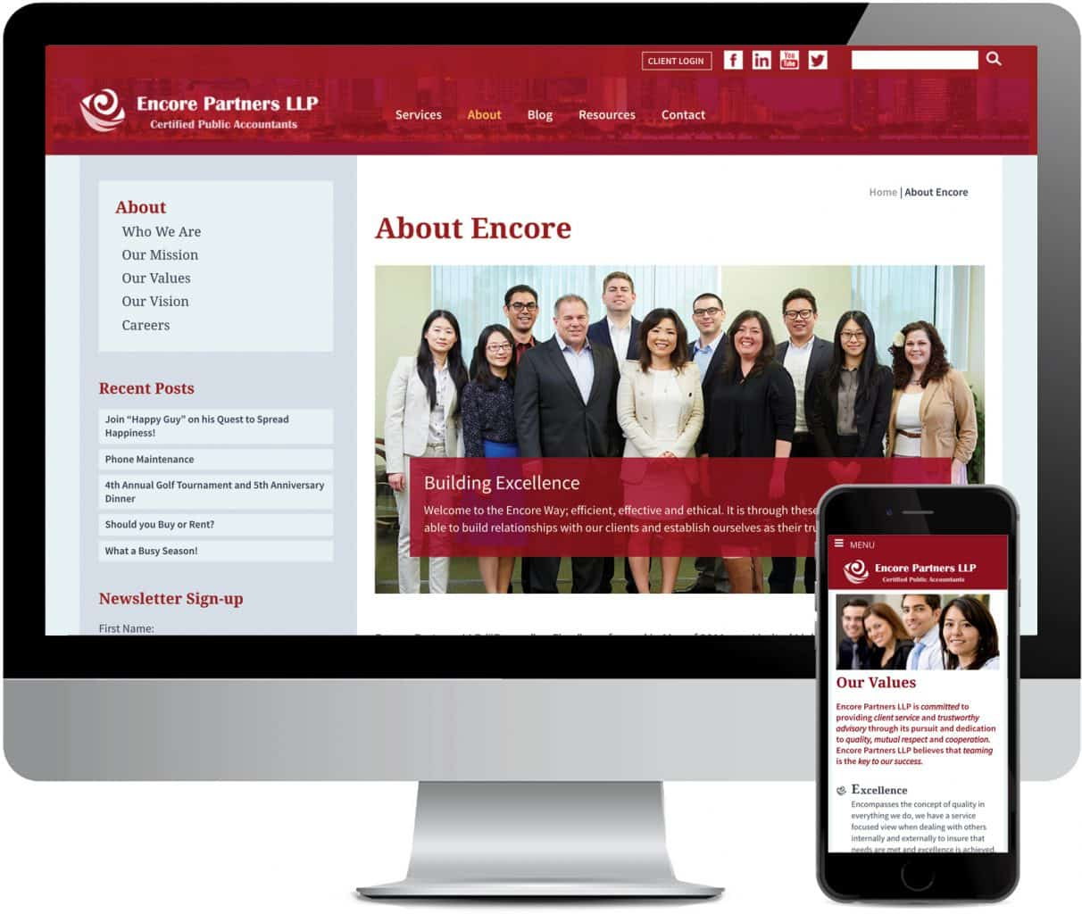 Encore PArtners Tax Accounting Website