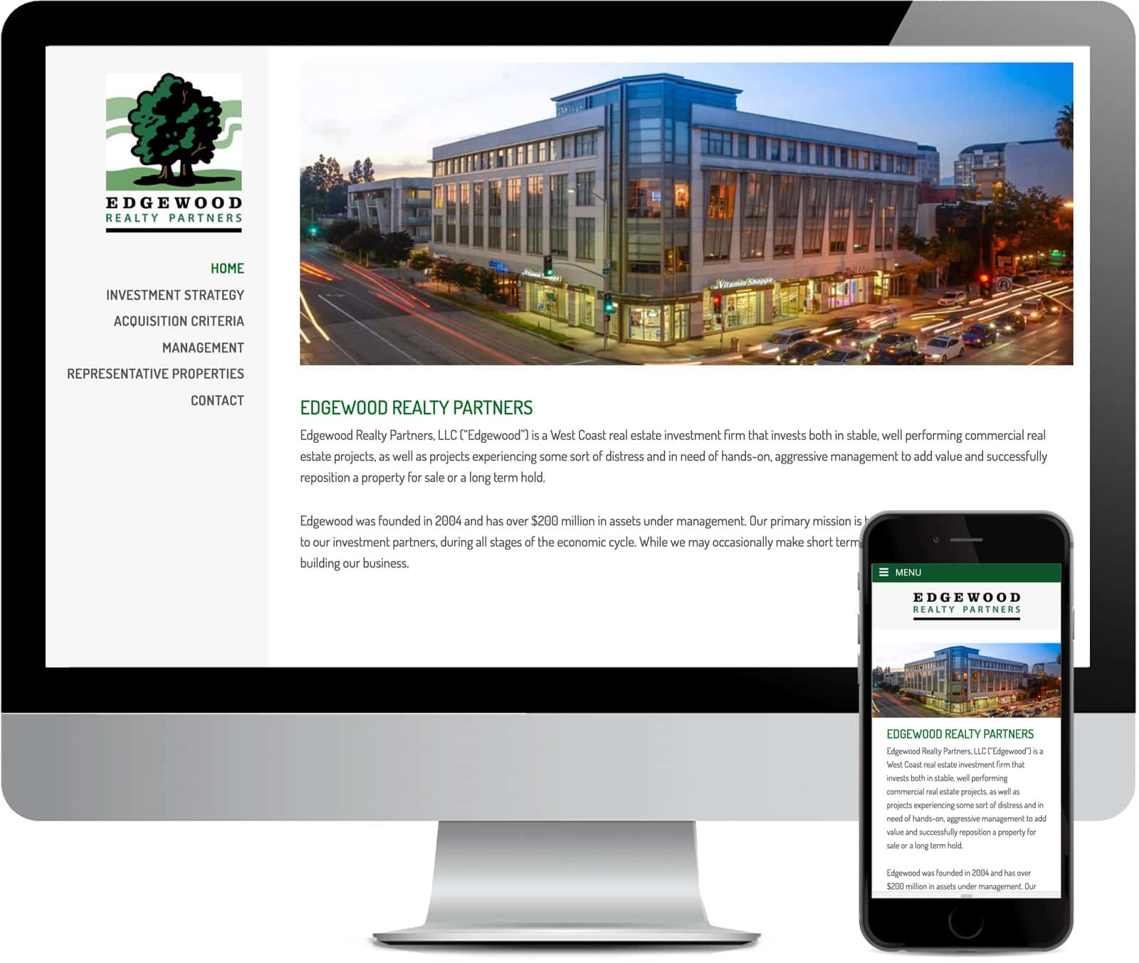 Edgewood Realty Partners Website