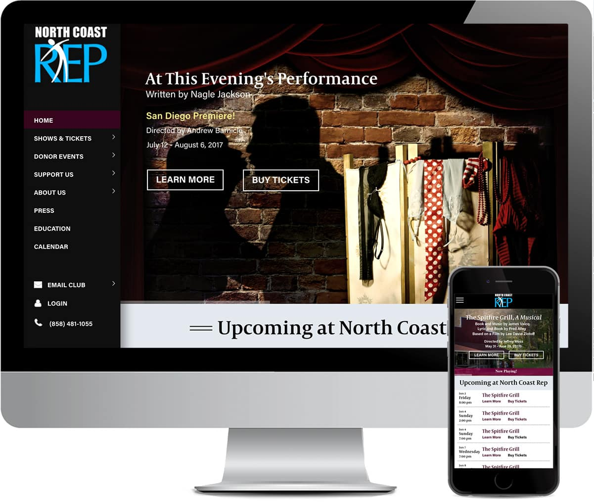 Northh Coast Repertory Theatre Website Design